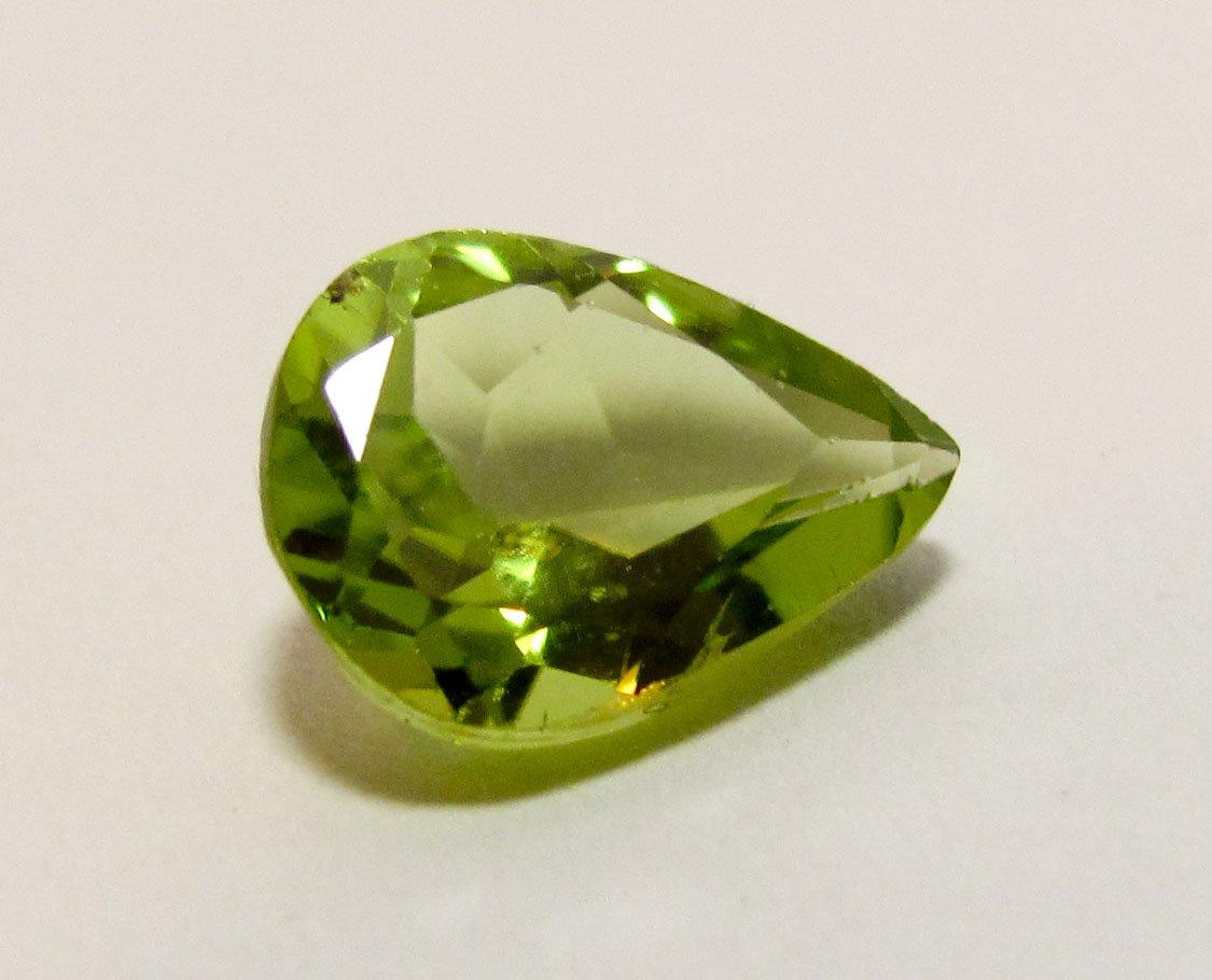Peridot 9 x 7 mm Pear Cut Loose Faceted Gemstone
