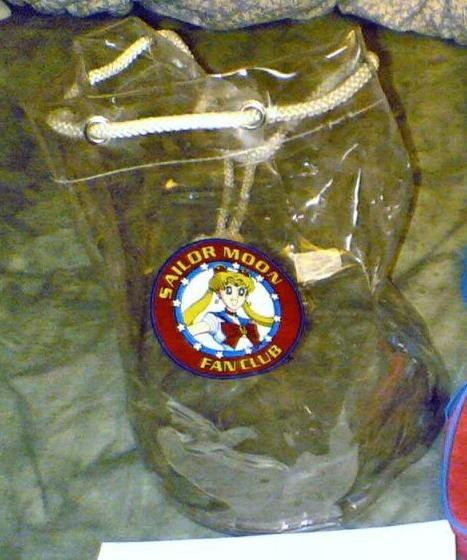 Sailor Moon DiC fanclub bag clear