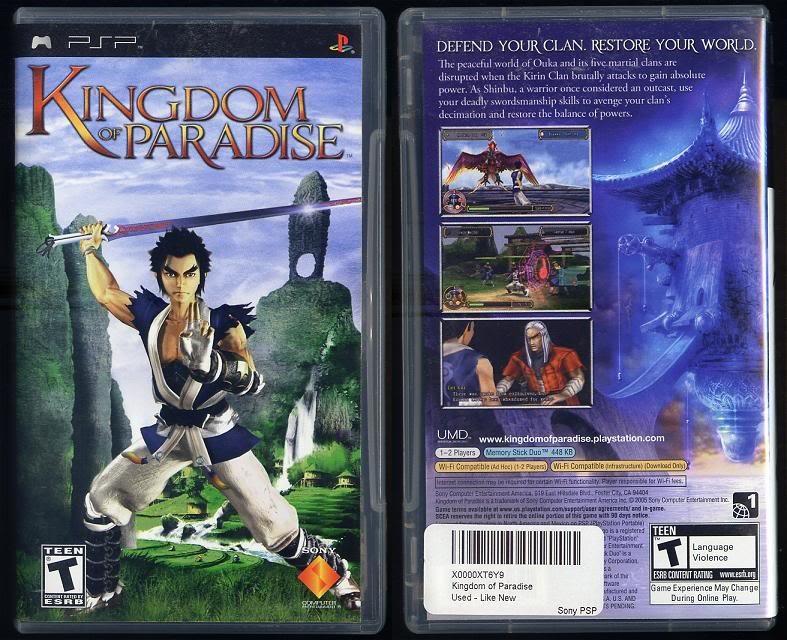 Kingdom of Paradise Sony PSP
