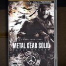 Metal Gear Solid Peace Walker Sony PSP
