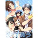 ATTACK ON TITAN DOUJINSHI / Wash Wash / Levi x Hanji Levihan Eren x Mikasa