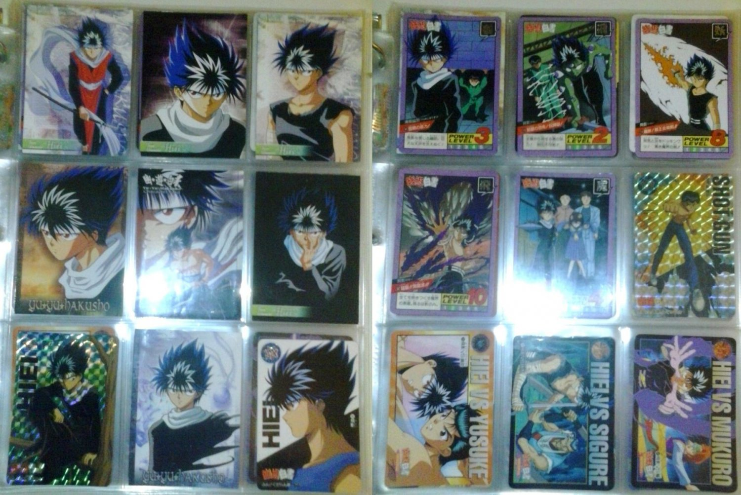 YU YU HAKUSHO 80 card lot + extras