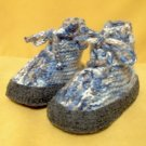Baby Boots Knit HAND MADE UNIQUE - Boy, Blue, 12 - 24 m - for Todlers