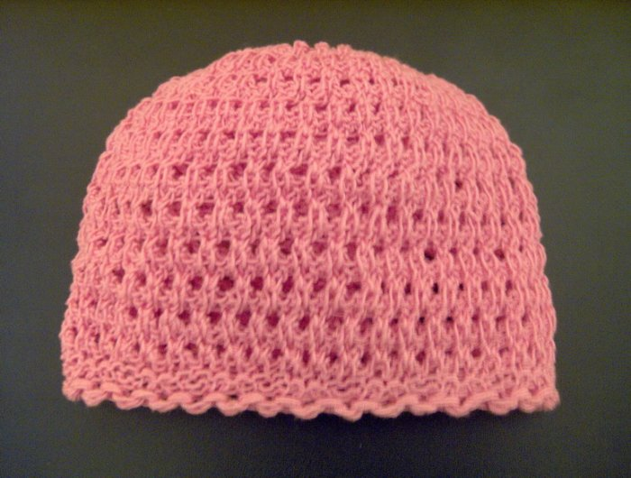 Baby Hat Knit HAND MADE UNIQUE - Girl, Pink, 2-3 years