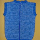 Baby Knit Jacket HAND MADE UNIQUE - Boy, Blue,1-3 years