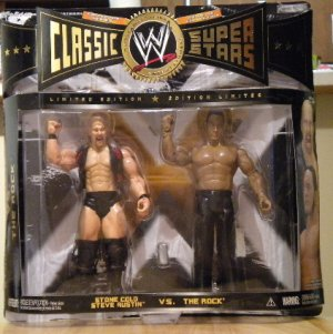 WWE Classic Superstars 2 Pack Stone Cold Steve Austin and The Rock