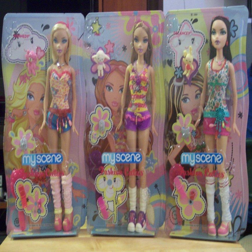 Barbie My Scene Fashion Cuties Set of 3 Nia, Delancey, Kennedy