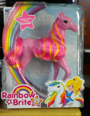 Playmates 2009 Rainbow Brite 25th Anniversary Tickled Pink's Horse Sunriser NEW