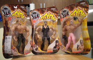 WWE Flex'ems Lot Series 14 Undertaker Rey Mysterio and Shawn Michaels NEW