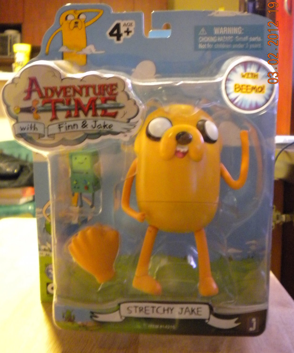 Adventure Time with Finn & Jake Stretchy Jake with Beemo New