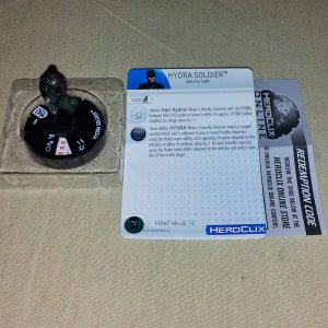 Heroclix Hydra Soldier 002 Avengers Movie w/ Card and HCO Code