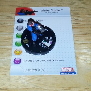 Heroclix Winter Soldier #050 Super Rare Avengers Set w/ Card