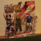 GUILE vs. ABEL Street Fighter Round 1, Series 1, 4&quot; inch Figures 2-pk Capcom 2011