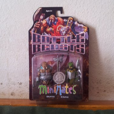 Minimates Battle Beasts Gruntos and Scalpus TRU Exclusive Figure Pack