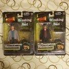 Breaking Bad Heisenberg Collectible Figure Set of 2 Original and Grey Coat/Jacket Variant by Mezco