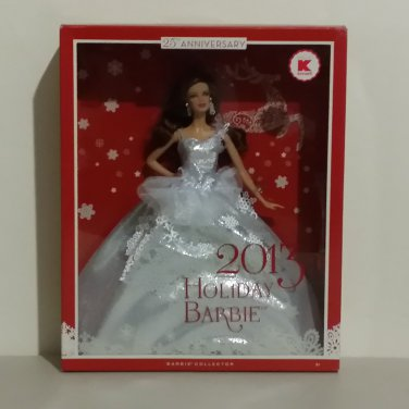 2013 Kmart Exclusive Brunette Holiday Barbie Doll NEW