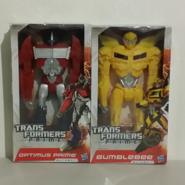 "Transformers Prime 12"" Optimus Prime and Bumblebee Set of 2 Figures"