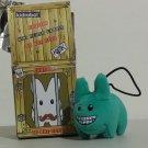 Light Blue with Smile Kidrobot Kozik Mini Plush Labbit with Hang Cord