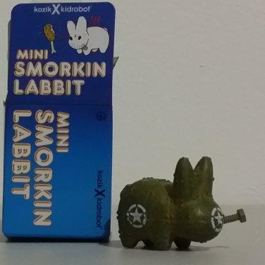"Kidrobot Kozik Mini Smorkin Labbit 1.5"" Green Army Mecha Dunny Fried Chicken 2/25"