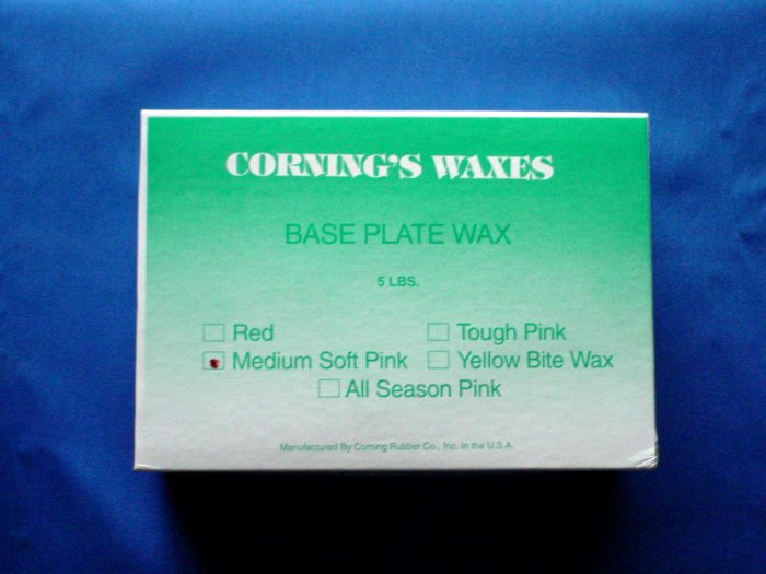 2031 Base Plate Wax Medium/Soft Pink Corning 5lb.
