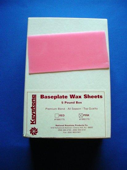 2040 Base Plate Wax Pink 5 lb. Keystone