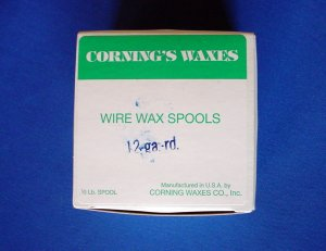 2505 Spool Wax Blue 12 ga Corning 1/2 lb.