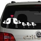 Lovely Bird Family, Car Vinyl decals stickers, windows decals stickers