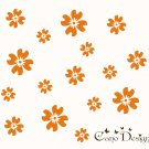Flowers Set of 12, Flowers 12 Pack, vinyl wall decals, nursery, kids & teens room, removable decals