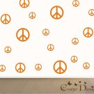 Peace Signs Set of 12, removable vinyl wall decals, nursery, kids & teens room
