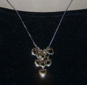 Stunning 2 Tone 14k Italian Gold Heart Necklace w. SLIDE