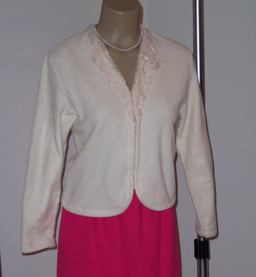 Lovely Coldwater Creek Fleece Top/ Jacket- Size S