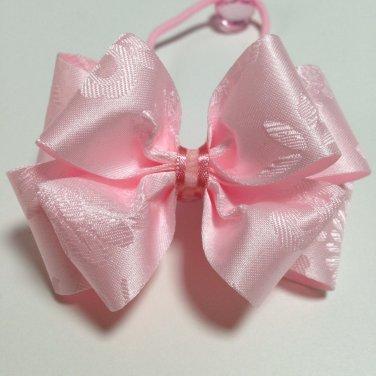 Hanbok Hair Ribbon Elastic Tie Korean Traditional Dress Light Pink