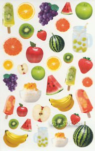Fruits Apple Banana Grape Watermelon Photo Sticker 35++