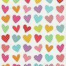 Heart Stickers 70+ dot stripe