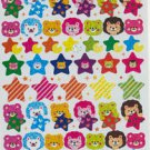 Glitter Bear with Star sticker 70 pieces +