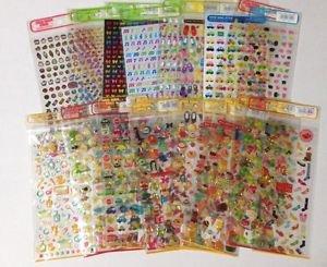 22 Mind Wave Seals Japanese Cute Kawaii Stickers NIP Vintage Epoxy