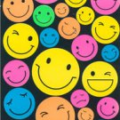 Plain Neon Smile Face Sticker  30