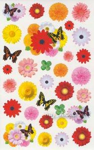 Flower Butterfly Gerbera Photo Sticker 35++