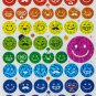 Glitter Smile Face Facial Express Sticker 60 pieces