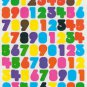 Number stickers colorful 2 sheets 100+stickers