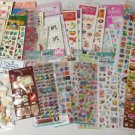 56 Korean Stickers Assortment NIP Vintage Epoxy Handmade