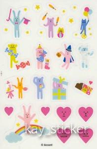 Craftholic Heart Sock Bunny Sock Bear Sticker