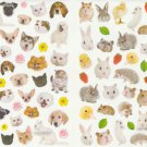 2 sheet of Animal photo stickers Dog Cat Rabbit  Hamster  80+