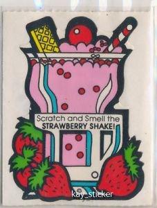 Mello Smello Scratch and Sniff sticker STRAWBERRY SHAKE