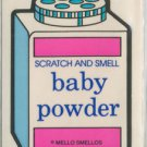 Mello Smello Scratch and Sniff sticker BABY POWDER