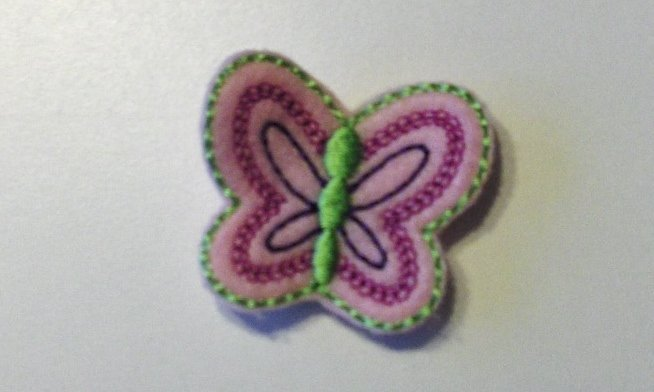Light pink butterfly felt clippies set