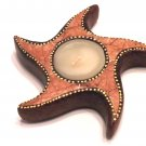 TERRACOTTA CANDLE STAR FISH BROWN