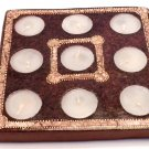 TERRACOTA CANDLE SQUARE BROWN