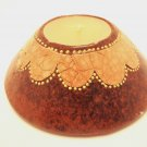 TERRACOTTA CANDLE CONE SHAPE BROWN