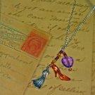Royal in Purple: Dress + High Heel Necklace